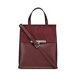 Lancaster - Dark red leather 'Lily' backpack
