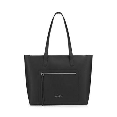Lancaster   Black Leather 'pur &Amp; Element Foulonne' Shopper Bag by Lancaster