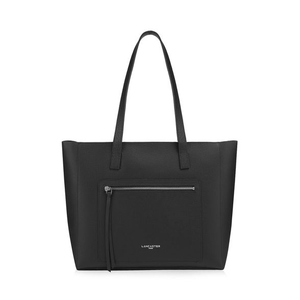 shopper 'Pur amp; Element Black Foulonne' leather Lancaster bag PqUYfEf