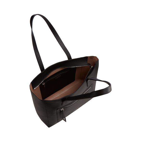 shopper 'Pur amp; Element Black Foulonne' leather Lancaster bag PqUYfEf