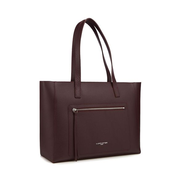 Foulonne' amp; bag Wine Element 'Pur shopper Lancaster leather xqXfXU