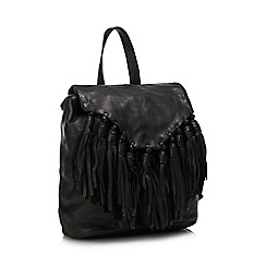Day and Mood - Black Leather 'Lee' Backpack