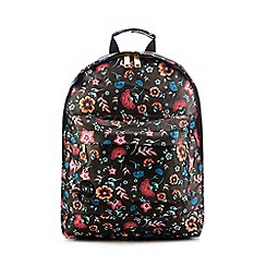 Mi-Pac - Black floral print backpack