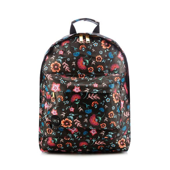 Pac backpack Mi floral print Black n8XTpTd