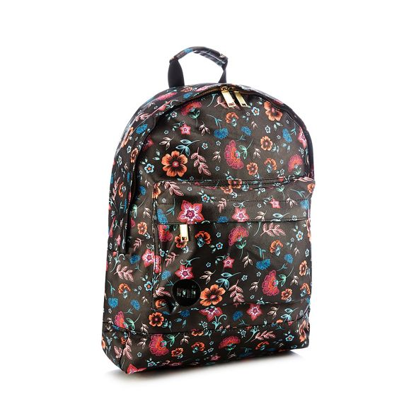 Pac backpack floral Mi Black print vSwqXgZd