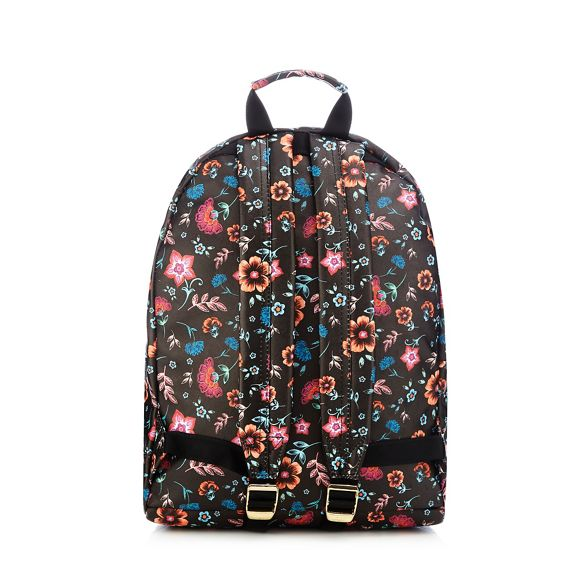 floral Pac Black backpack print Mi qgUwEzCC