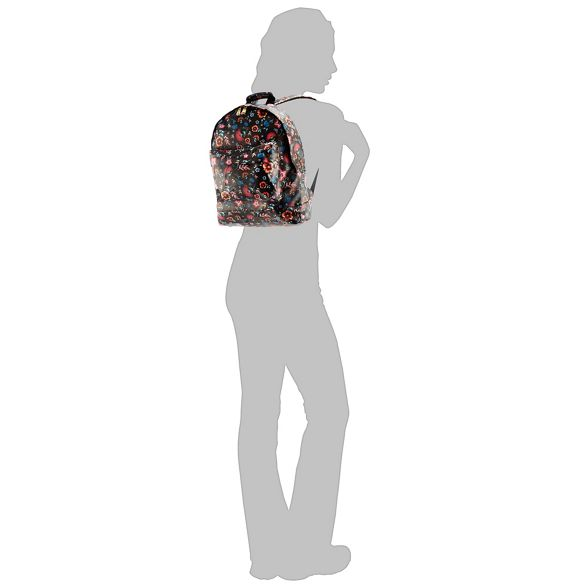 print Pac floral Mi backpack Black 10tS4qw