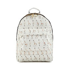 Mi-Pac - White giraffe print backpack
