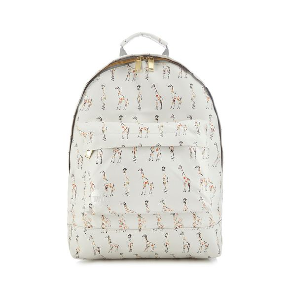Mi backpack White Pac print giraffe qx41rwq