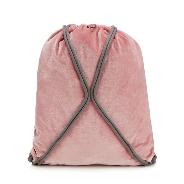 drawstring Pink Pac Mi backpack velvet U7Pwxg