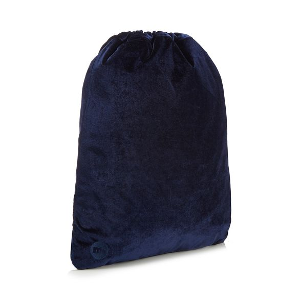 Blue backpack drawstring Mi Pac velvet 7xwUf75Xq