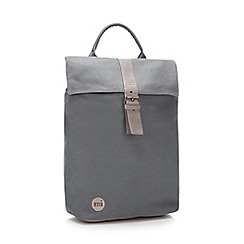 Mi-Pac - Grey canvas 'Day Pack' backpack