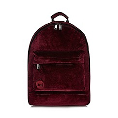 Mi-Pac - Dark red velvet backpack