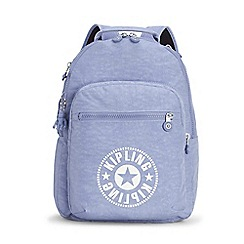 Kipling - Light blue 'Clas Seoul' large backpack