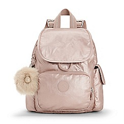 Kipling - Rose Gold 'City Pack' Mini Backpack