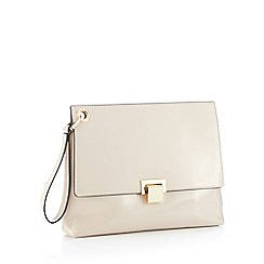 Faith - Nude wristlet patent clutch bag