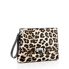 Faith - Leopard print wristlet clutch bag