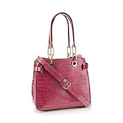 Faith - Plum croc effect faux leather grab bag 92ec186139f39