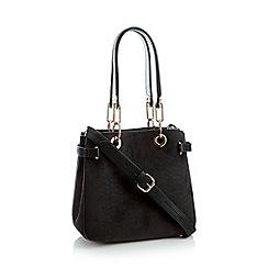 5f78944fee Faith - Black croc effect faux suede grab bag