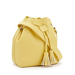 Faith - Yellow 'All Tassel No Hassle' Bucket Bag