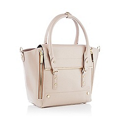 Faith - Pale pink large winged patent grab bag