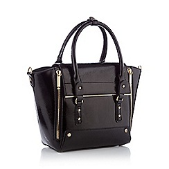 Faith - Black large winged patent grab bag