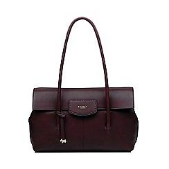 Radley - Wine Leather 'Burnham Beeches' Large Flapover Shoulder Bag