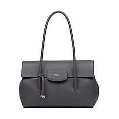 Radley Dark Grey Leather Burnham Beeches Large Flapover Shoulder Bag