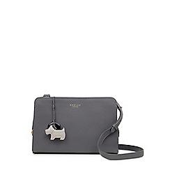 Radley - Dark Grey Leather 'Liverpool Street' Medium Zip-top Crossbody Bag