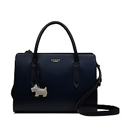 Radley - Navy leather 'Liverpool Street' medium multiway grab bag