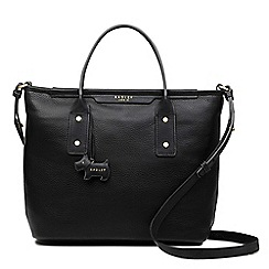 Radley - Black leather 'Patcham Palace' medium multiway grab bag