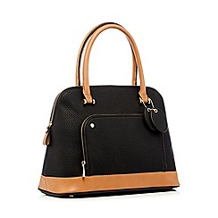 The Collection Black Dome Grained Grab Bag