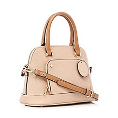 The Collection - Light pink 'Dome' grained grab bag