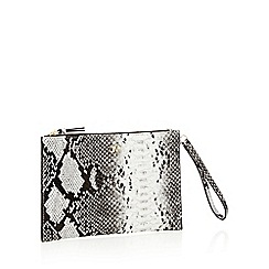 Star by Julien Macdonald - Multicoloured snake print faux leather clutch bag