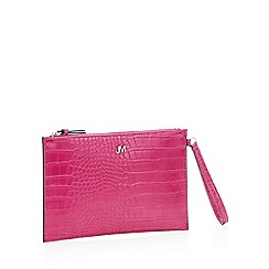 Star by Julien Macdonald - Pink croc effect faux leather clutch bag