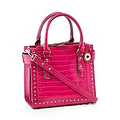 Star by Julien Macdonald - Pink studded croc effect small grab bag 491f47f13040b