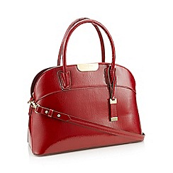 J by Jasper Conran - Red faux leather patent large grab bag
