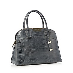 J by Jasper Conran - Grey 'Croft' crocodile kettle bag