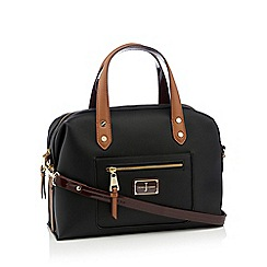 J by Jasper Conran - Black faux leather 'Earlswood' bowler bag