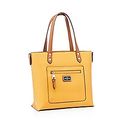 82f7f9d321 J by Jasper Conran - Mustard faux leather  Earlswood  shopper bag