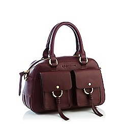 dede0b75e17 John Rocha - Wine red faux leather small grab bag