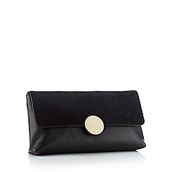 J by Jasper Conran - Black textured 'Finsbury' foldover clutch