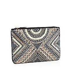 Nine by Savannah Miller - Multicoloured Beaded Clutch