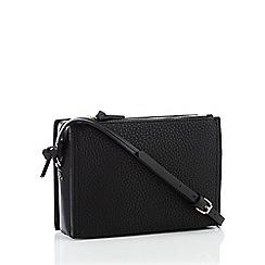 Principles Black Faux Leather Cross Body Bag