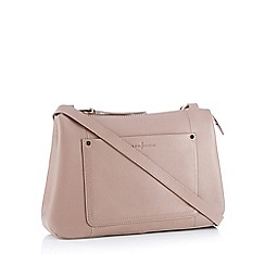 J by Jasper Conran - Pink front pocket leather 'Burlington' cross-body bag