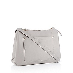 J by Jasper Conran - Grey front pocket 'Burlington' cross body bag