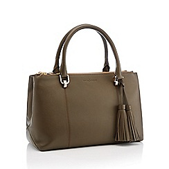 J by Jasper Conran - Khaki Leather 'Kew' Grab Bag