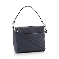 J by Jasper Conran - Navy Leather 'Angel' Cross Body Bag