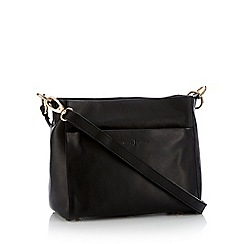 J by Jasper Conran - Black leather 'Angel' cross body bag