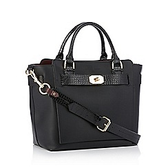 J by Jasper Conran - Black belted faux leather 'Fitzrovia' grab bag